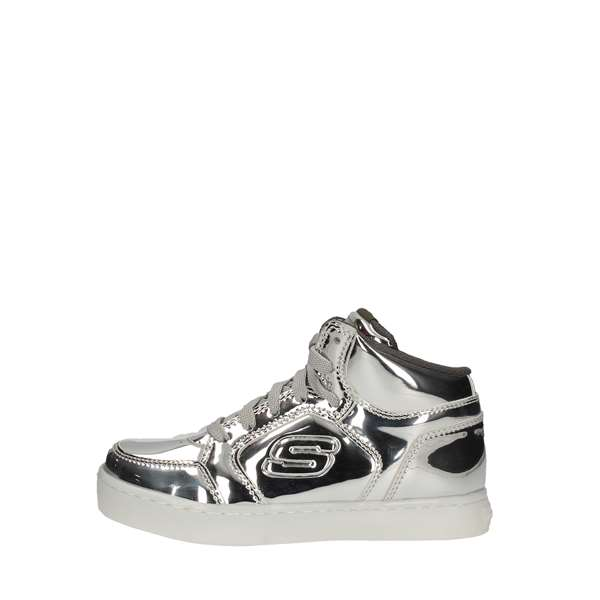 scarpe skechers bambino argento