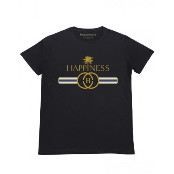 HAPPINESS Short sleeves BLACK