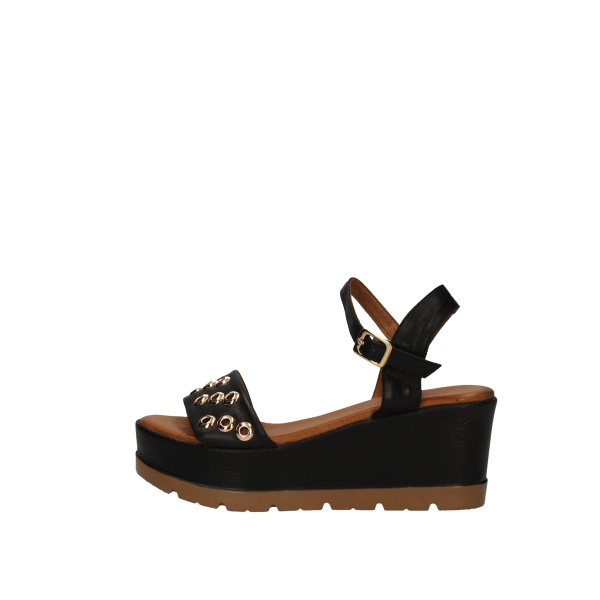 DONNA STYLE  With wedge Black
