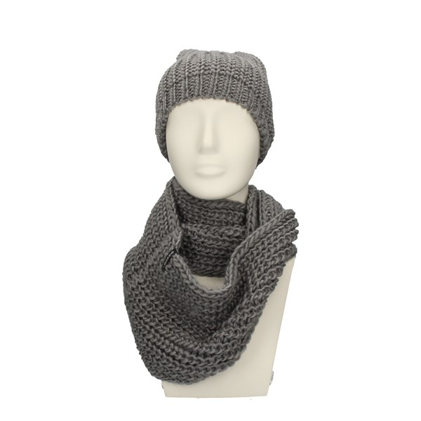 CHARRO neck warmer WHITE AND GRAY
