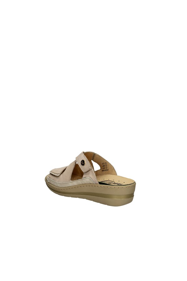 ROBERT slippers WHITE AND BEIGE
