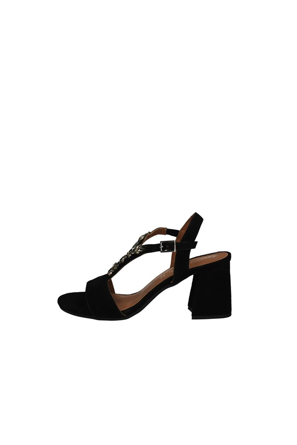 ANNALU' With heel BLACK