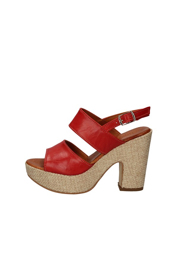 CINZIA SOFT With heel RED