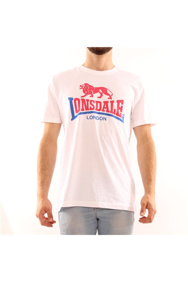 LONSDALE Short sleeve WHITE