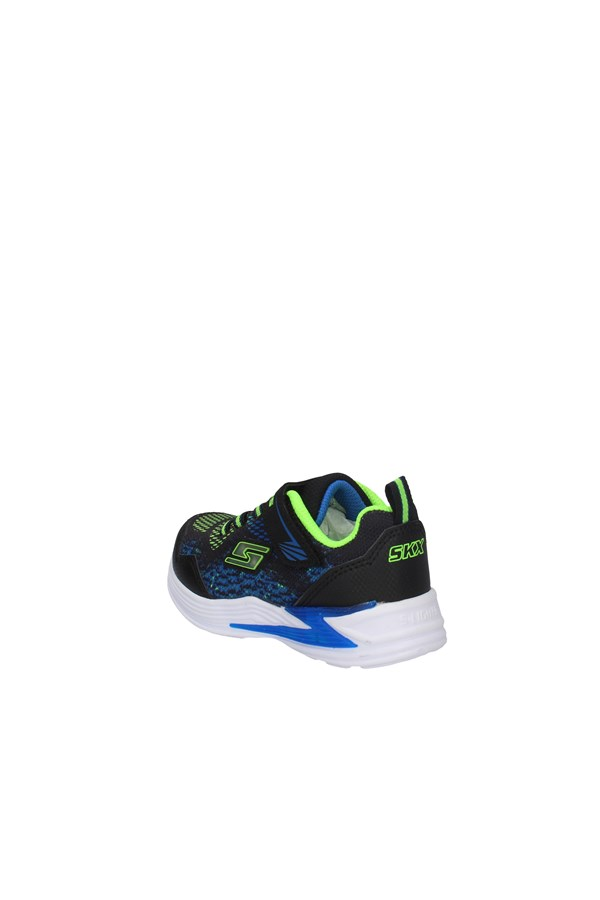 SKECHERS SNEAKERS BLACK AND LIME