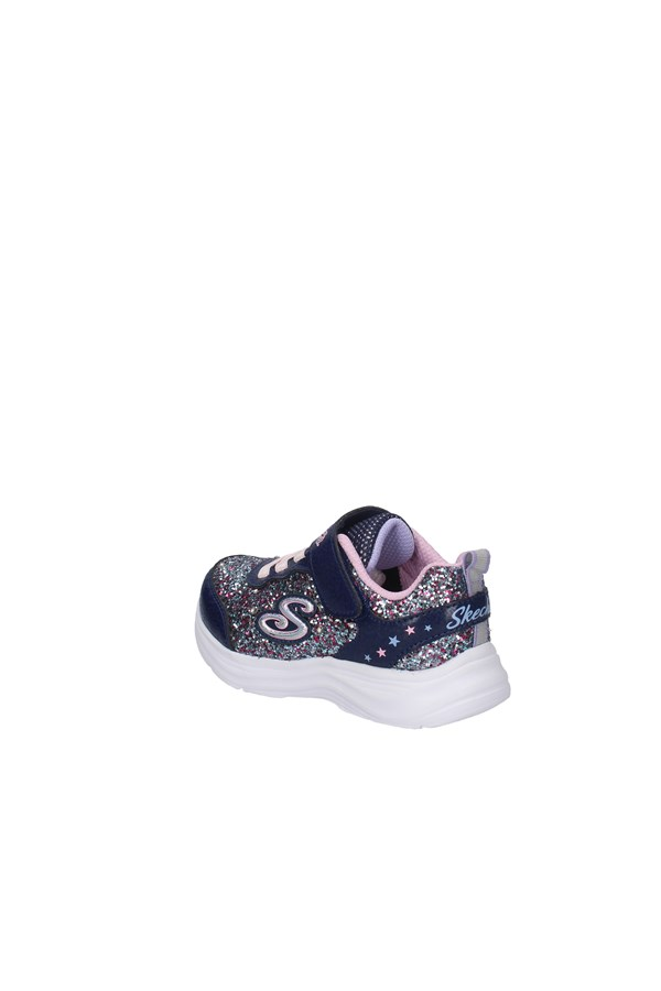 SKECHERS SNEAKERS METALLIC BLUE