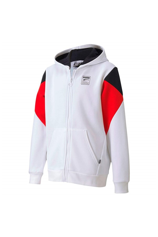 PUMA Hoodies WHITE BLACK AND RED