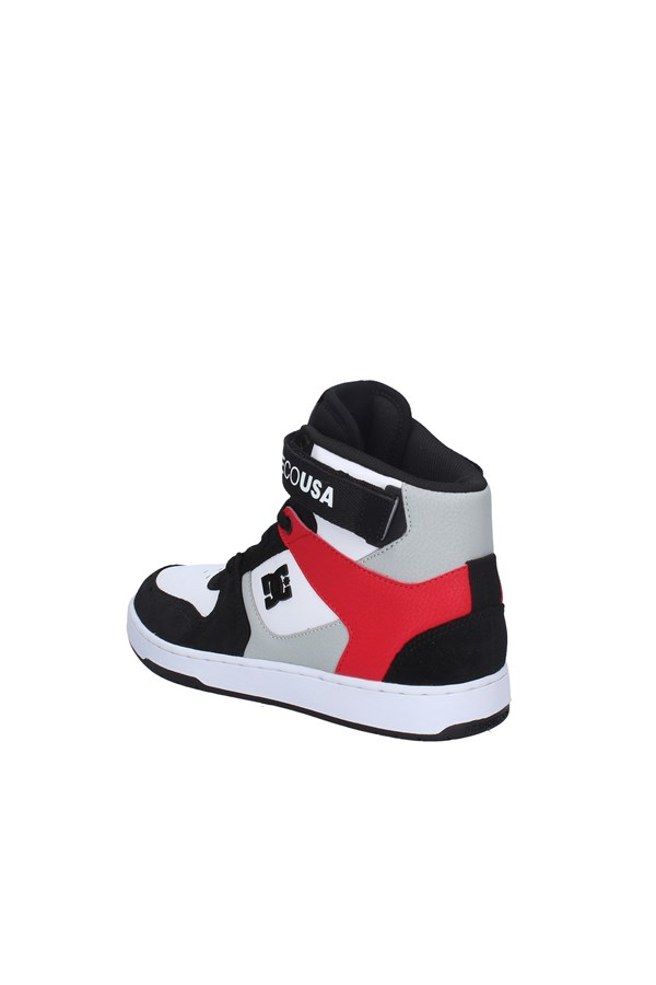 DC SNEAKERS BLACK AND RED