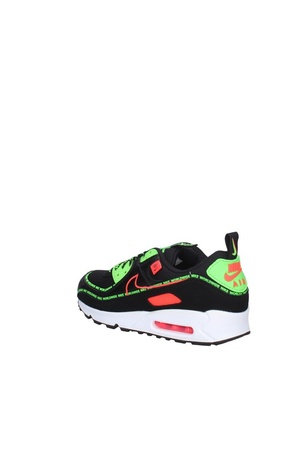 NIKE SNEAKERS BLACK AND LIME