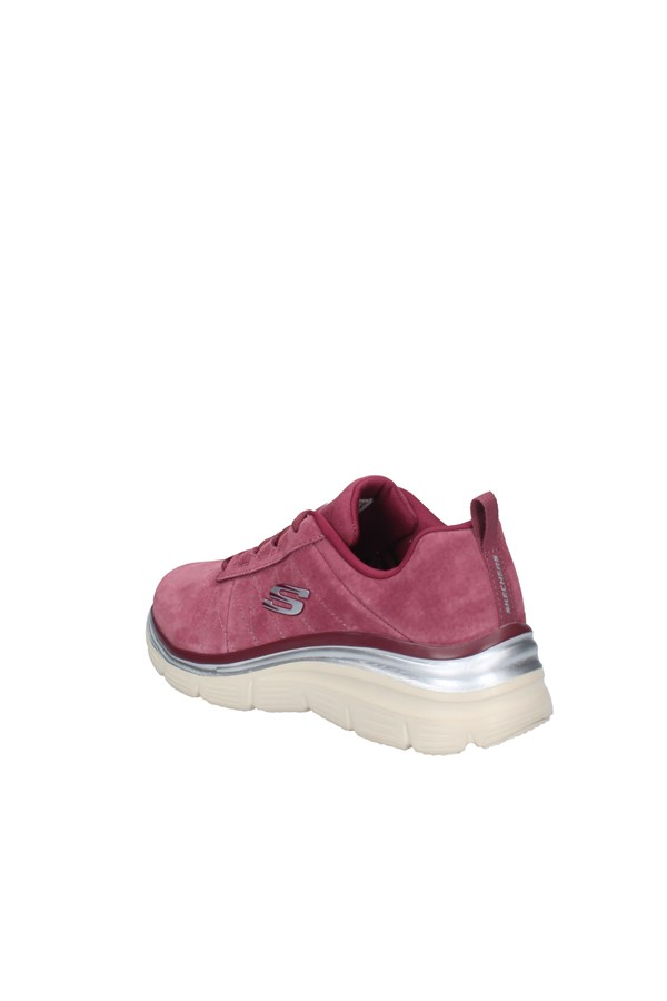 SKECHERS SNEAKERS BURGUNDY
