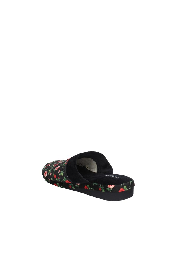 DE FONSECA slippers BLACK AND RED