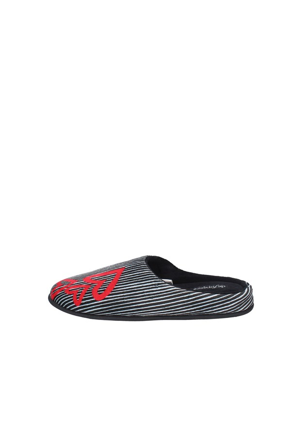 DE FONSECA slippers BLACK