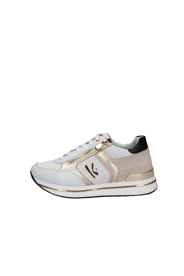 KEYS SNEAKERS WHITE AND GOLD