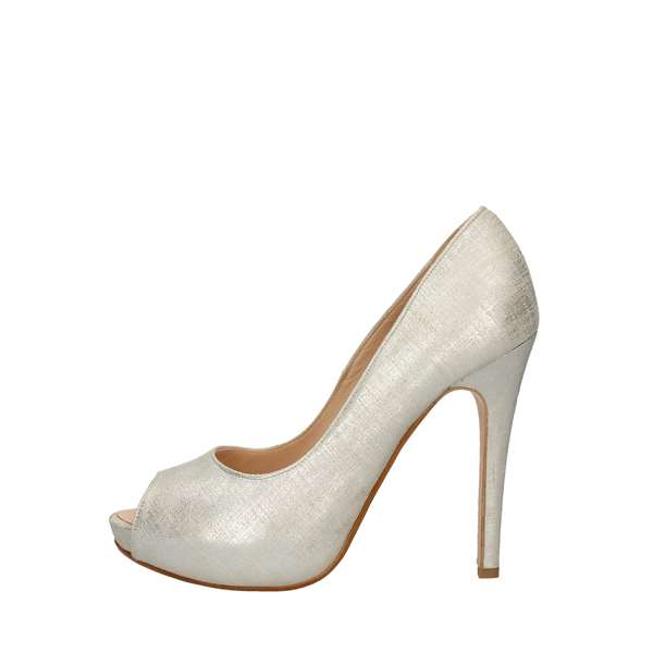 SILVANAHeeled Shoes  Check 780 CREAM