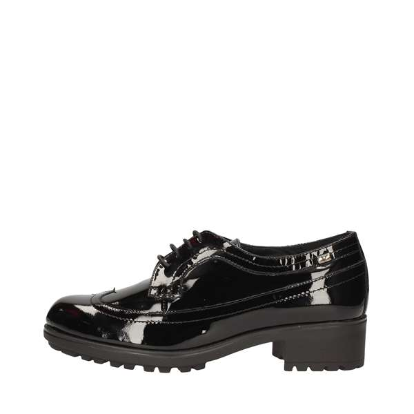 VALLEVERDE shoes with laces Black