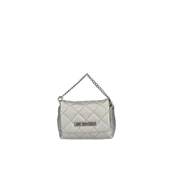 LOVE MOSCHINO Evening Clutch Bag Silver