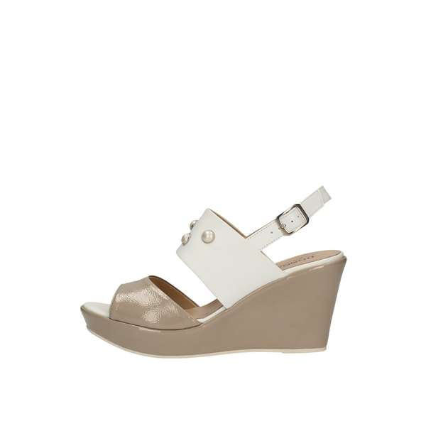 DONNA SOFT With wedge White