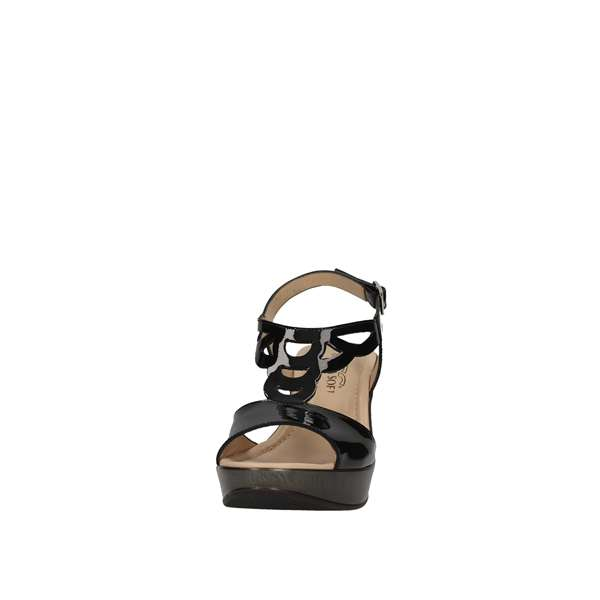 DONNA SOFT 7350 Black Shoes Women