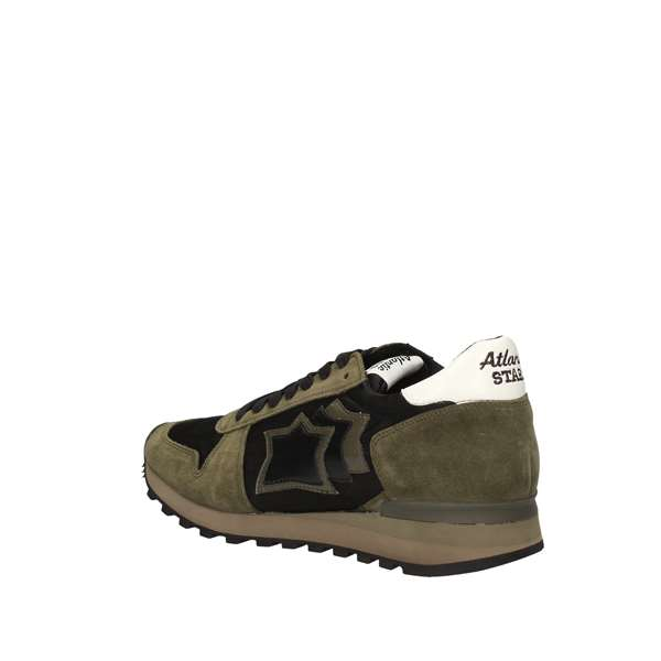 ATLANTIC STARS ARGO-NANYNOSM Green military Shoes Man