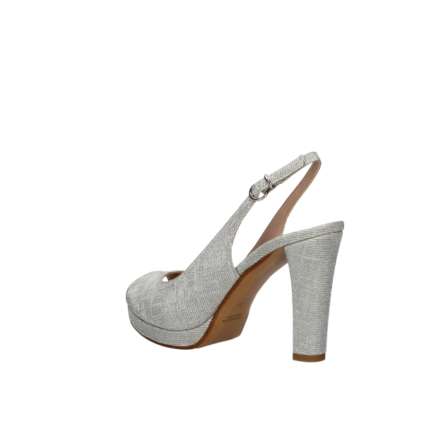 SILVANA With heel Silver