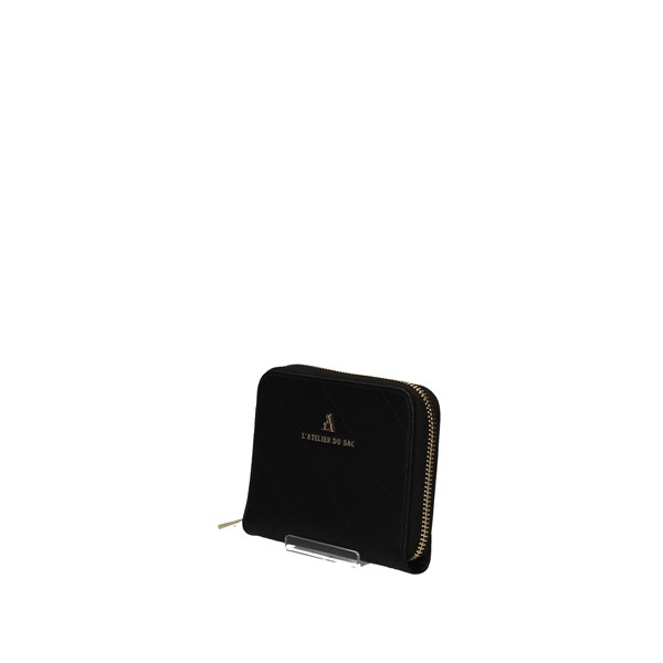 L'ATELIER DU SAC Banknote holder BLACK