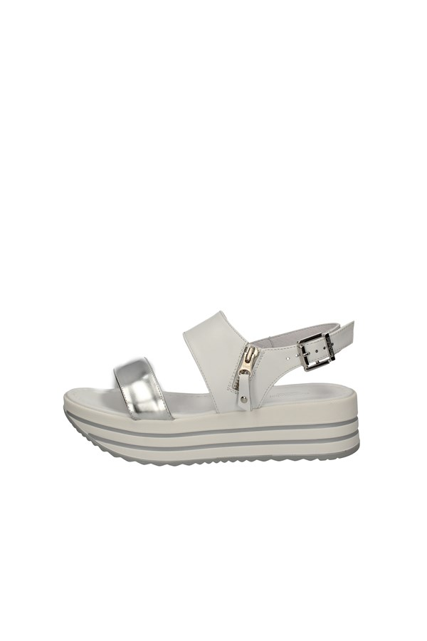 NERO GIARDINI SANDALS WHITE AND SILVER
