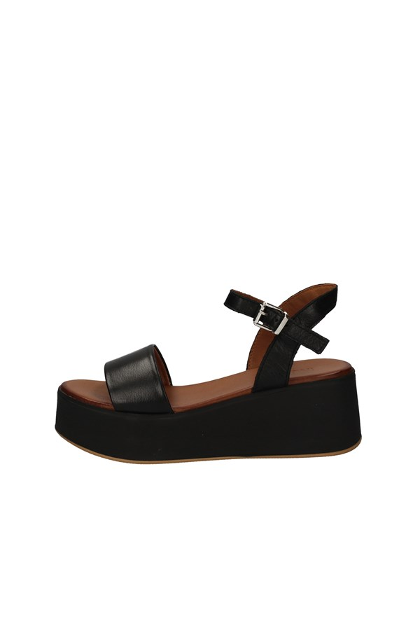 INUOVOSandals  With wedge 602001 BLACK