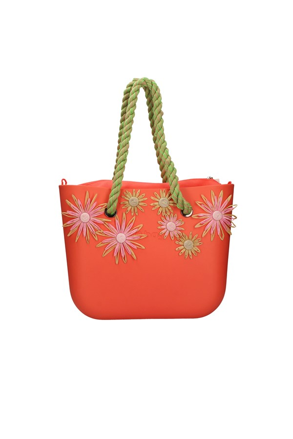 O BAG SHOPPER ORANGE BEIGE