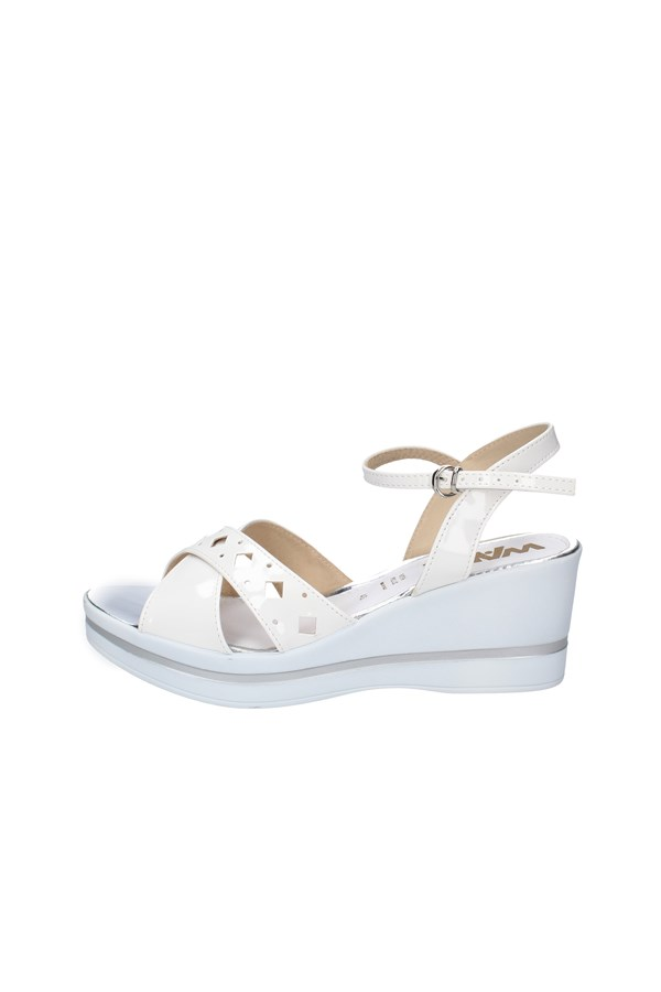 MELLUSO WEDGES WHITE