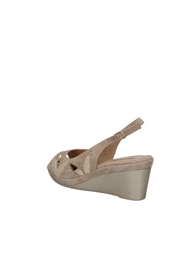 MELLUSO WEDGES TAUPE
