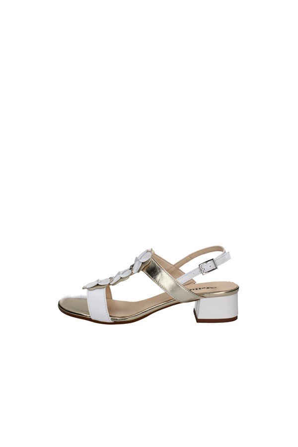 MELLUSO With heel WHITE AND GOLD