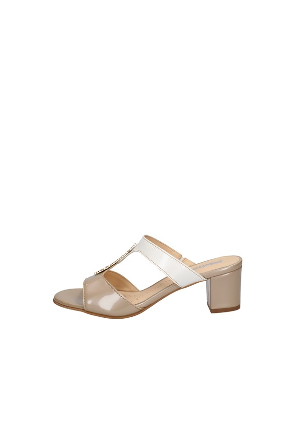 MELLUSO With heel WHITE AND BEIGE