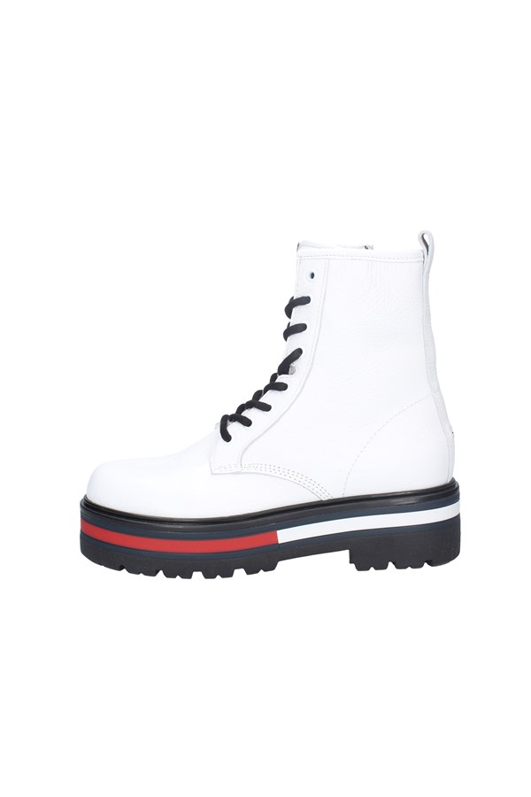 TOMMY JEANS chaussures amphibiens WHITE