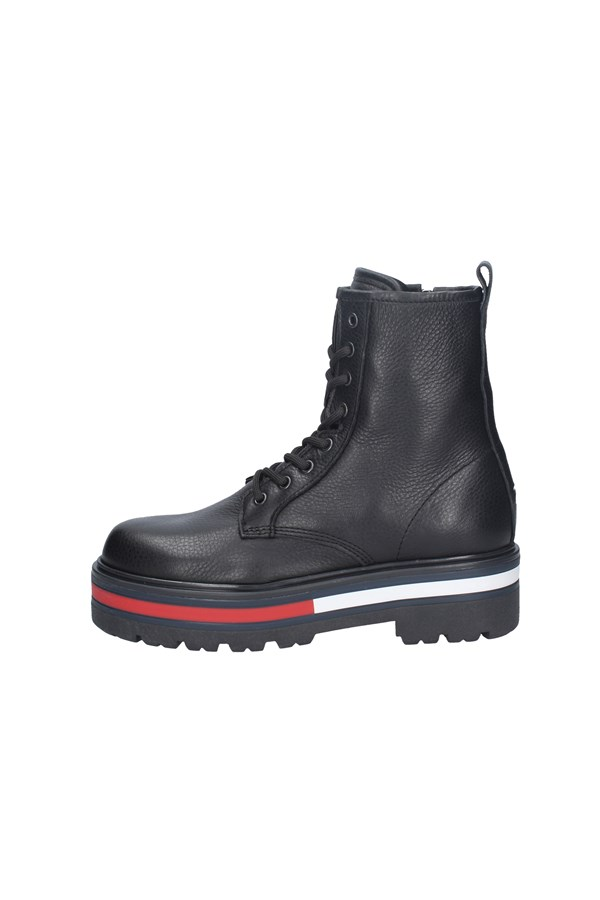 TOMMY JEANS chaussures amphibiens BLACK