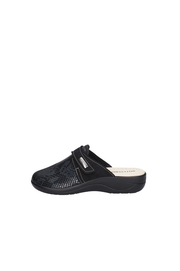 VALLEVERDE slippers BLACK
