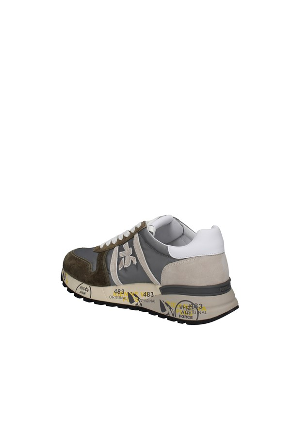PREMIATA SNEAKERS GREEN AND GRAY