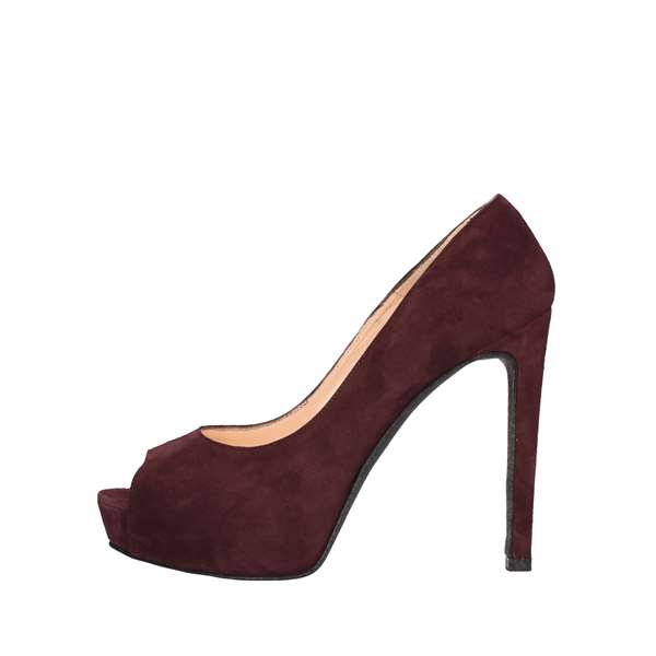 NOA Heeled Shoes  Check 5001 BORDEAUX