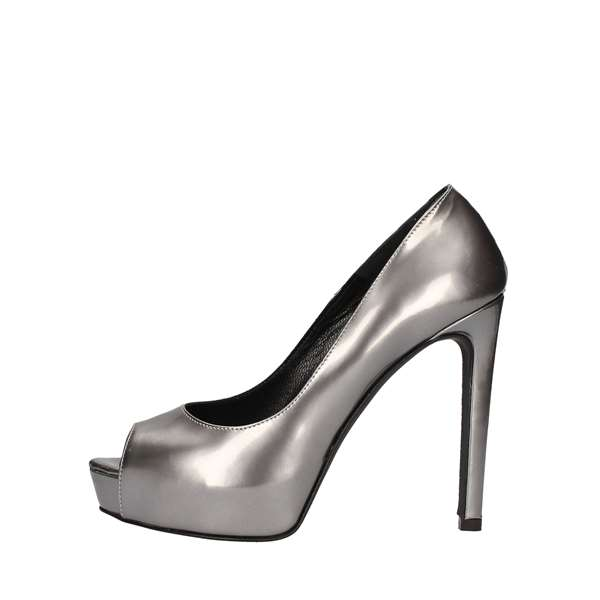 NOA Heeled Shoes  Check 5001 STEEL